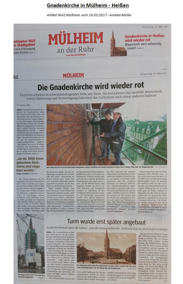 Gnadenkirche Artikel Homepage